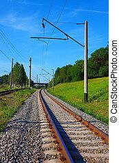 estate, piste ferrovia