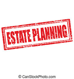 Estate Planning-stamp - Grunge rubber stamp with text Estate...