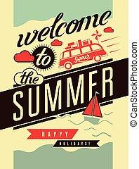 estate, poster., retro