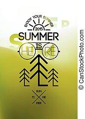 estate, poster., tempo