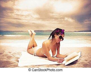 estate, rilassare