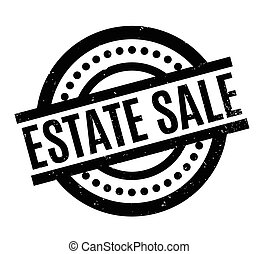 Estate Sale rubber stamp. Grunge design with dust scratches. Effects can be easily removed for a clean, crisp look. Color is easily changed.