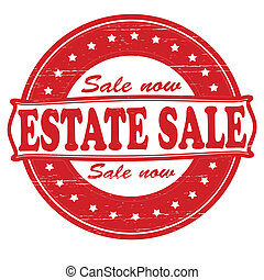 Estate sale - Stamp with text estate sale inside, vector...