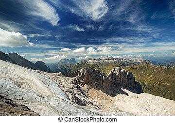 estate, scenico, vista, italiano, Dolomiti