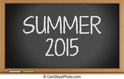estate, scritto, blackboard.