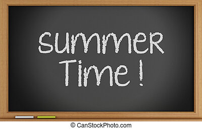 estate, scritto, blackboard., tempo