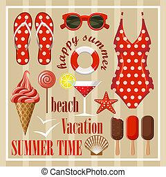 estate, set., spiaggia