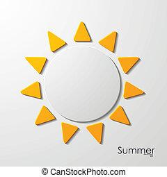 estate, sole, icona