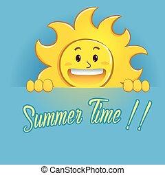 estate, sole, segno, presa a terra, tempo, felice