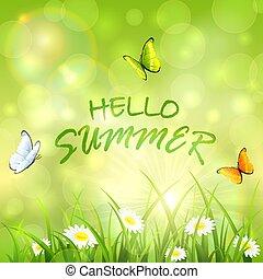 estate, soleggiato, fondo