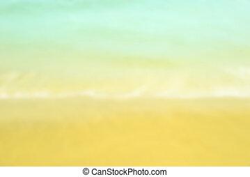 estate, spiaggia bianca, sabbia, offuscamento