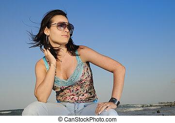 estate, spiaggia, moda