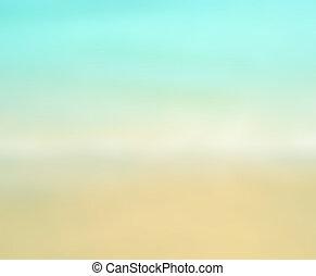 estate, spiaggia., pendenza, color., sabbia, offuscamento, bianco