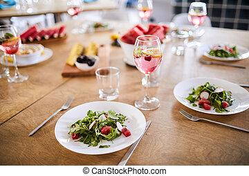 estate, tavola cena
