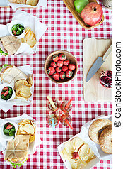estate, tavola picnic