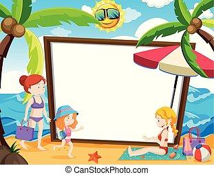 estate, tema, whiteboard