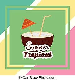estate, tropicale, stagione