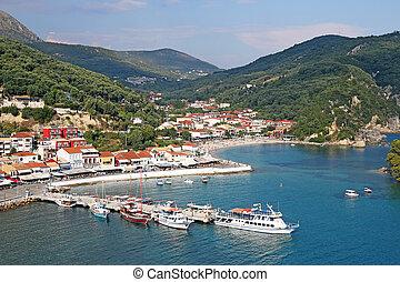estate, turista, parga, stagione, destinazione, grecia