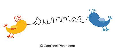 estate, uccelli