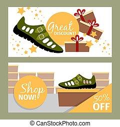 estate, uomini, verde, scarpa, volantini