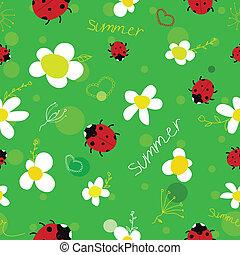 estate, verde, seamless, fondo