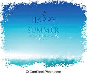 estate, vettore, fondo