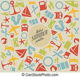 estate, vettore, /, motivi dello sfondo