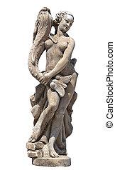 estatua, afrodita, antiguo