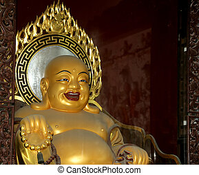 estatua, budista, beihai, beijing, parque, prohibido, china...