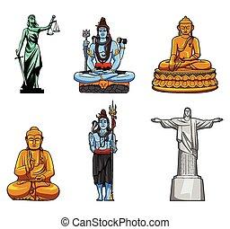 estatua, colección