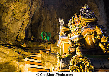 estatua, de, dios, en, batu, cuevas, kuala-lumpur, malasia