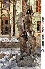 estatua, de, hans, cristiano, andersen, en, bratislava.