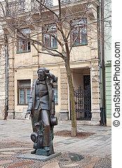 estatua, de, hans, cristiano, andersen