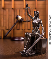 estatua, de, justicia, concepto