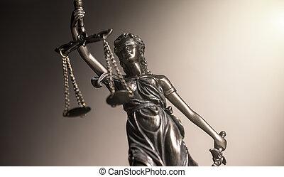 estatua, de, justicia, ley, concepto, imagen