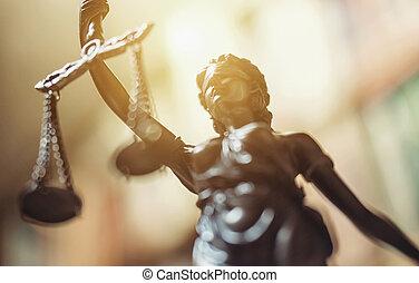 estatua, de, justicia