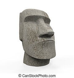 estatua de moai, aislado