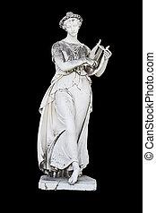estatua, griego, mítico, musa, clásico