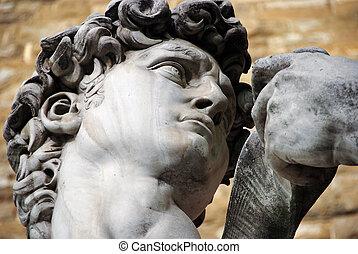 estatua, michelangelo, david