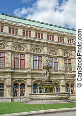 estatuas, casa de ópera, -, estado, staatsoper), (wiener, ...