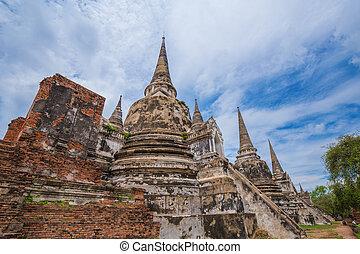 estatuas, phra, pagoda, parque, si, buddha, histórico,...
