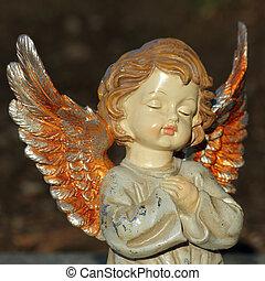 estatueta, angelical