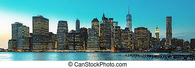 este, új york város égvonal, panoráma