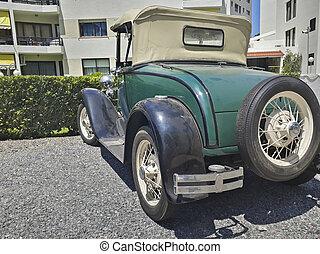 este, 古い, punta, 駐車される, ウルグアイ, del, 古典的な 車