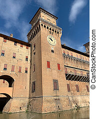 este, castello, ferara, 城, estense, イタリア