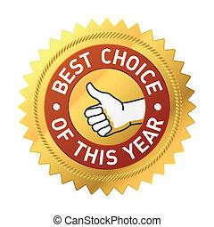 este, escolha, ano, melhor, etiqueta