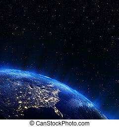 este, estados unidos de américa, de, espacio