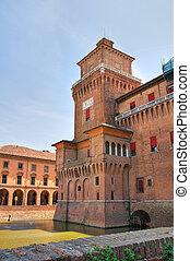 este, italy., castle., emilia-romagna., ferrara.