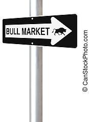 este, mercado, maneira, touro