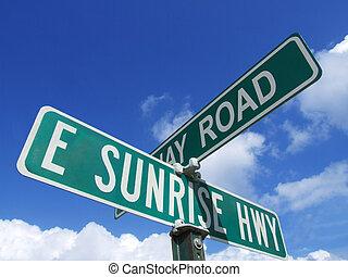 este, salida del sol, carretera